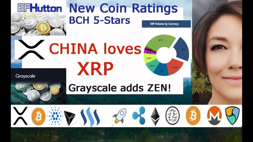 China LOVES XRP, Grayscale Adds ZEN investment Fund, EF Hutton Cryptocurrency Reports