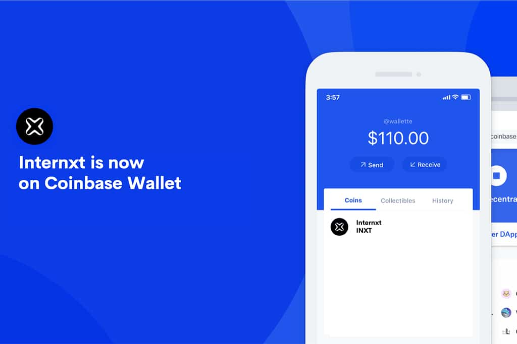 Internxt Added to Coinbase Wallet, Boasts Robust Price Surge