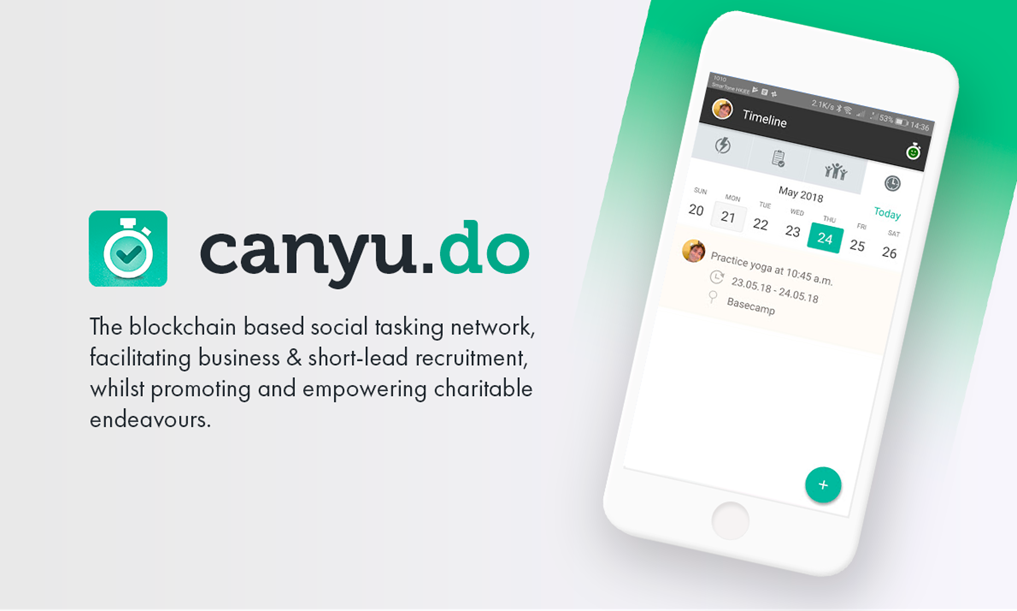 UK Blockchain Startup Canyudo Launches Social Tasking App in Closed Beta