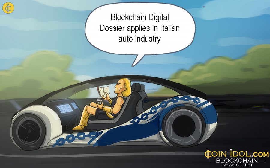 Blockchain Digital Dossier Applied in Italian Auto Industry